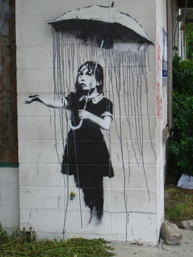 Banksy-Rain-Umbrella