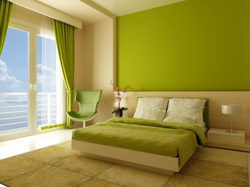 antique-minimalist-green-bedroom-design