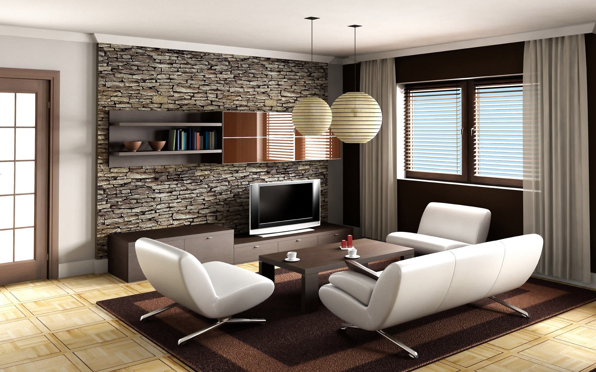 tasty-living-room-design-ideas-brown-sofa