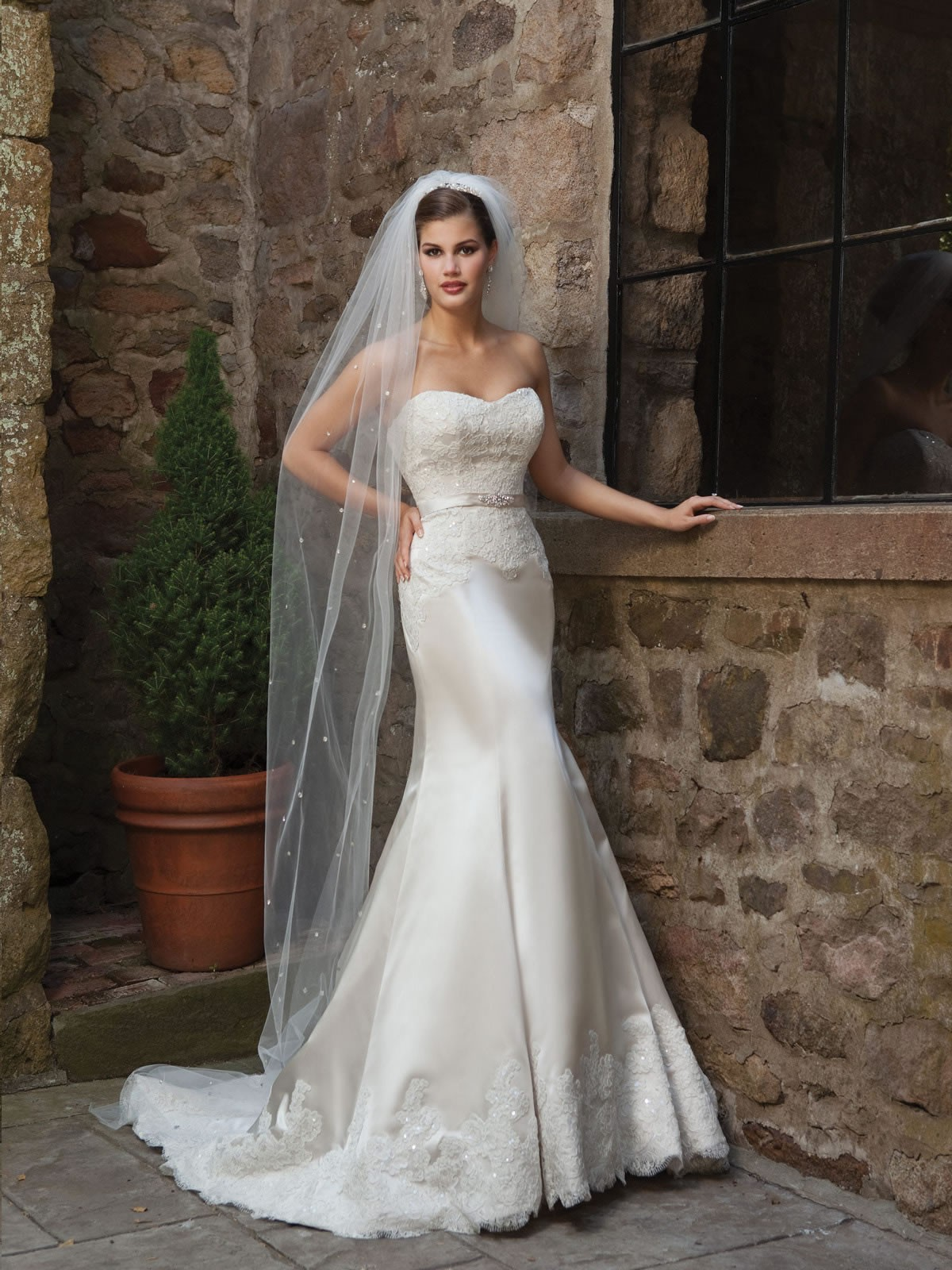 mermaid wedding dresses an elegant choice for brides ForSatin Mermaid Style Wedding Dresses