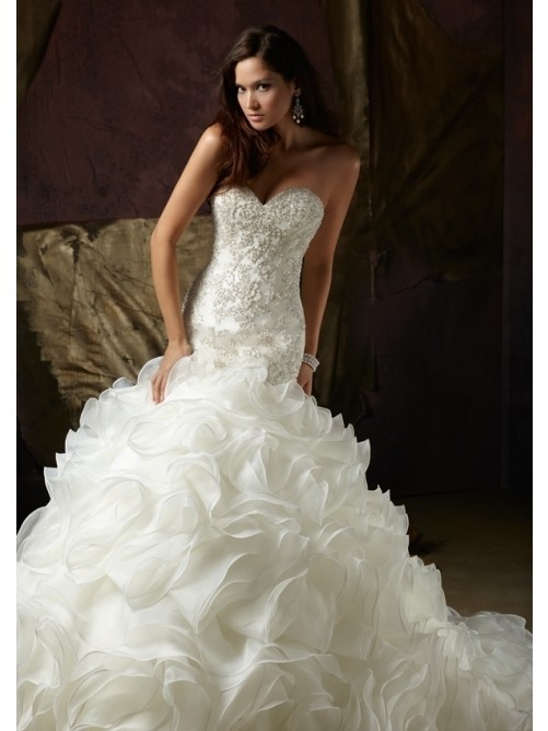 ball_gown_sweetheart_beading_hand-made_flower_wedding_dresses