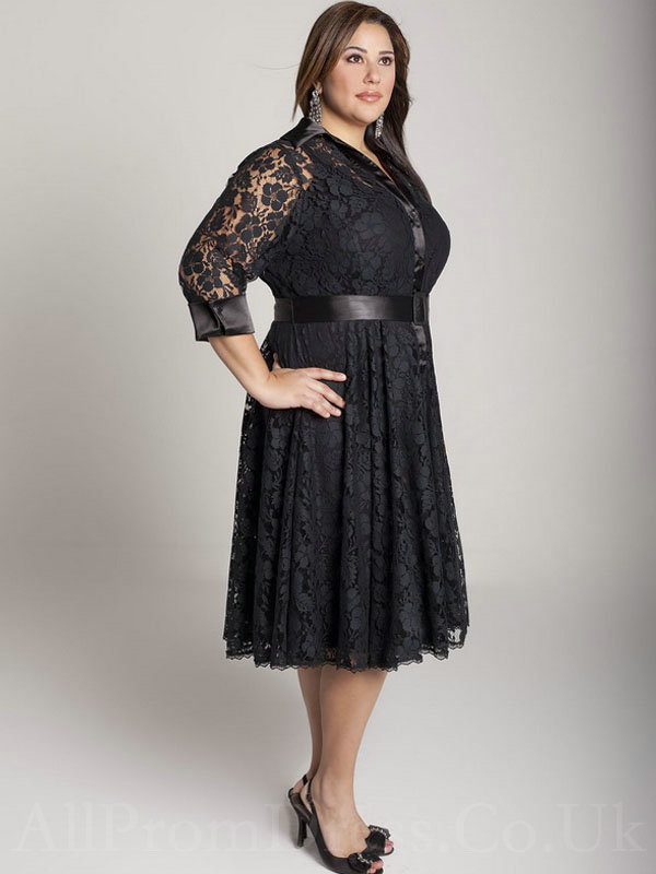 Plus Size Designer Clothes England cheap plus size black lace