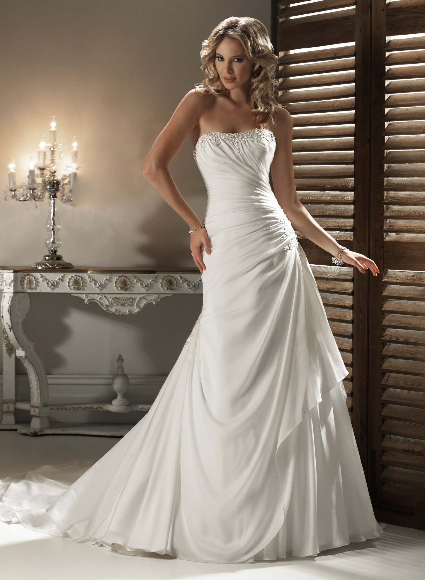 Wedding Gowns A Line Strapless : Gorgeous a line wedding dresses ideas