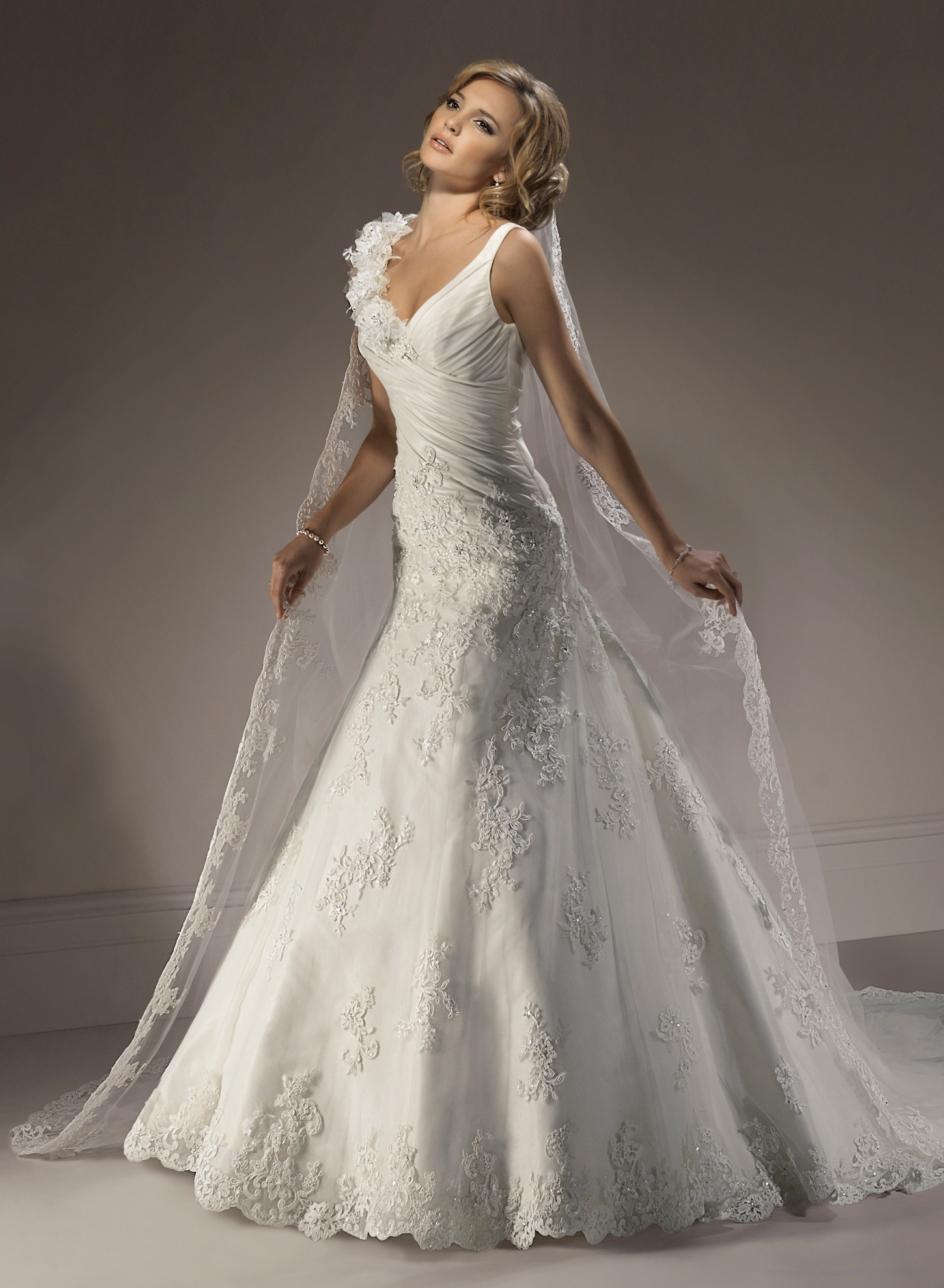 taffeta-v-neck-a-line-wedding-dress