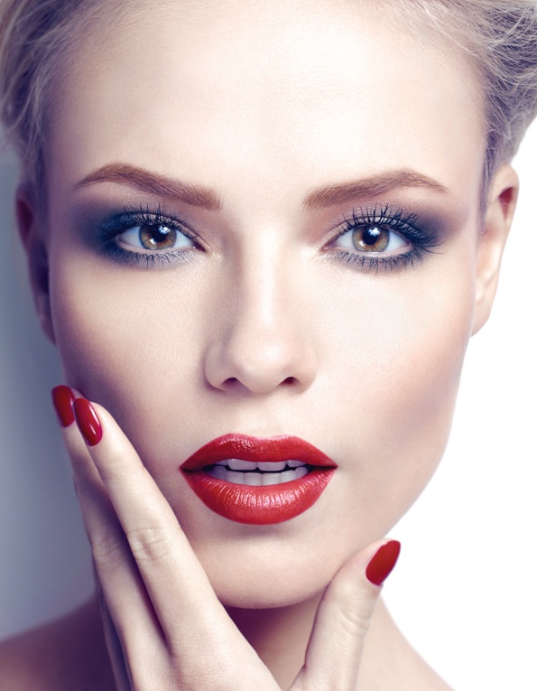 Hot-Red-Lips-for-Bridal-Makeup-Ideas