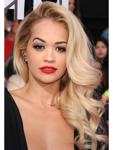 Rita Ora Side Hairstyles