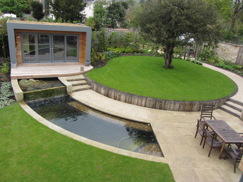 Amazing backyard pond design ideas for Contemporary pond design