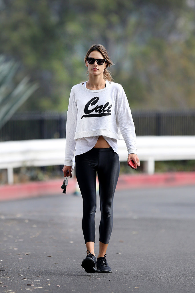 Alessandra Ambrosio Workout Outfits