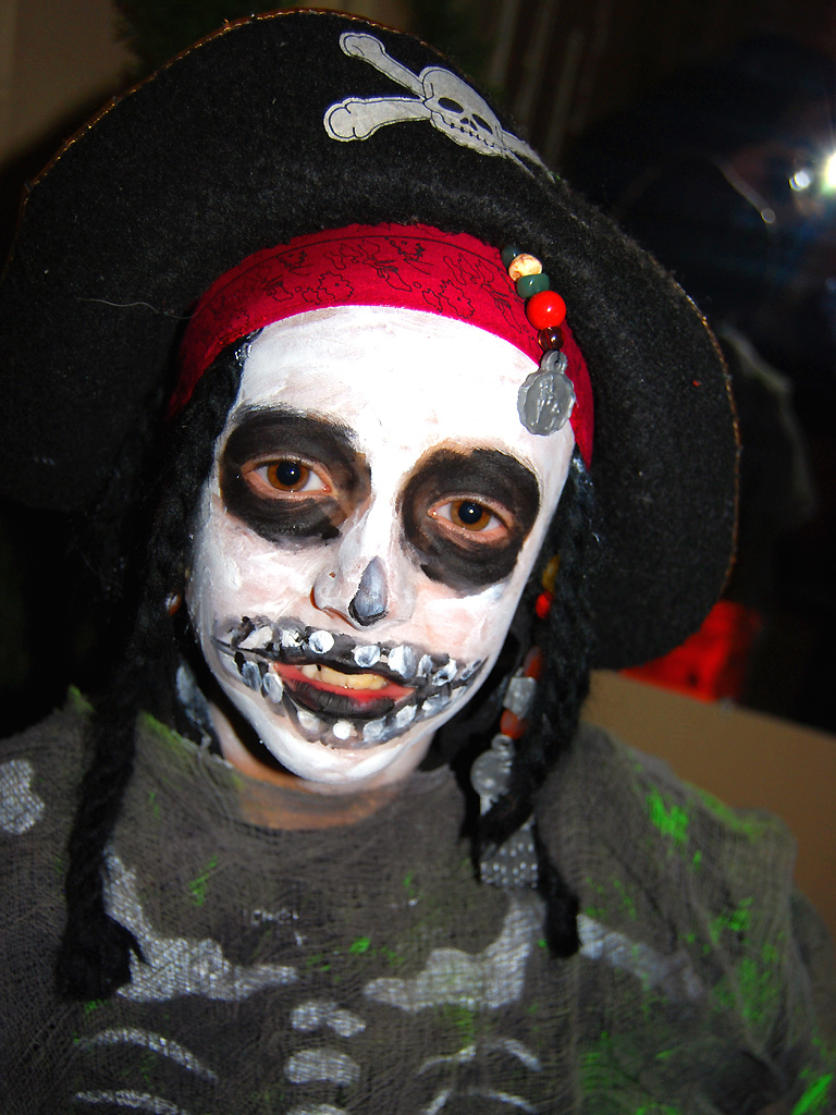 Ghost Pirate Halloween Makeup
