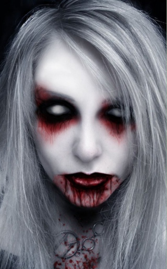 zombie style Ghost Halloween Makeup