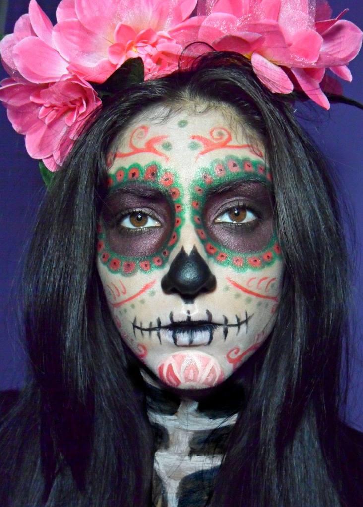 Amazing Day of The Dead Halloween Makeup