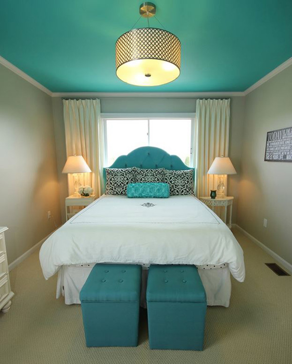21 breathtaking turquoise bedroom ideas for Dormitorio turquesa y beige