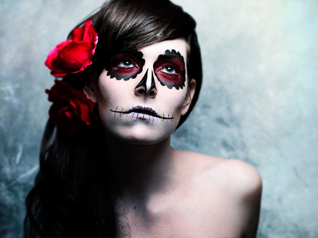 Mexican Day of The Dead Halloween Makeup