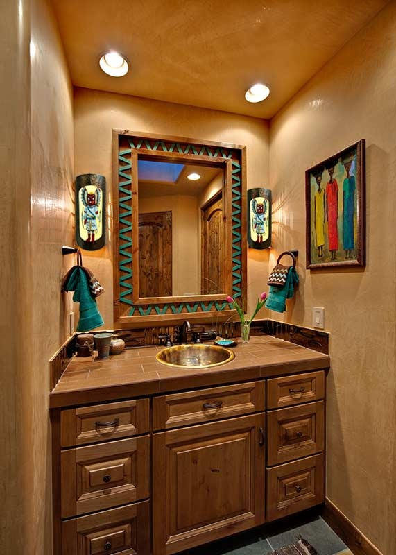 25 southwestern bathroom design ideas for Bathroom room accessories