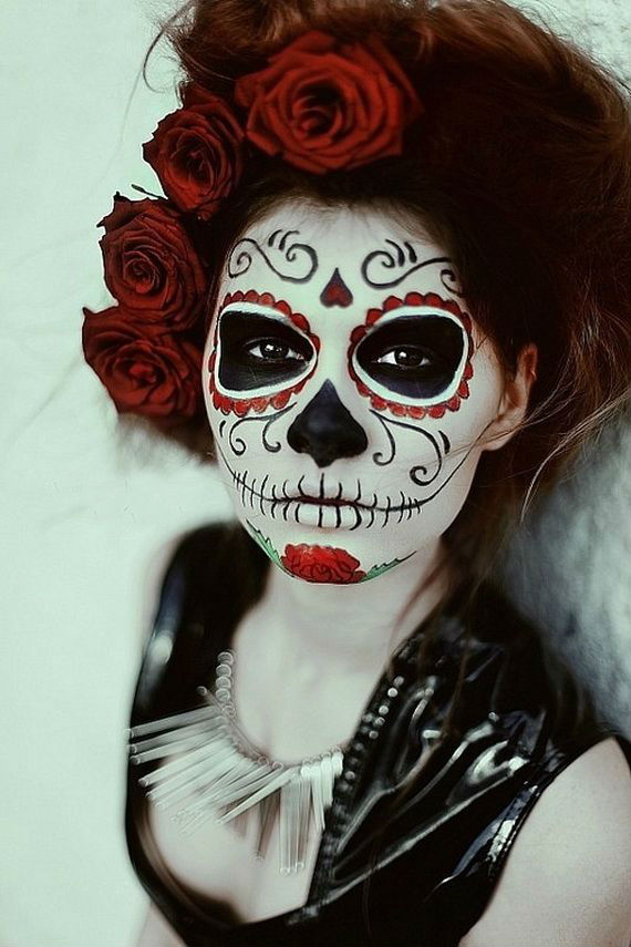 Women Day of The Dead Halloween Makeup