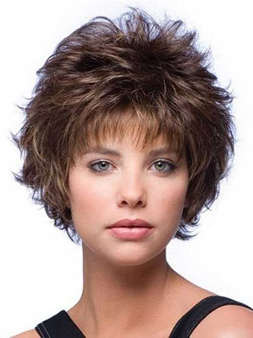 Curly Mixed Layered Short Hairstyle