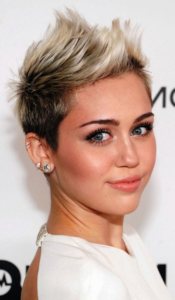 Funky Short Hairstyles For Round Faces