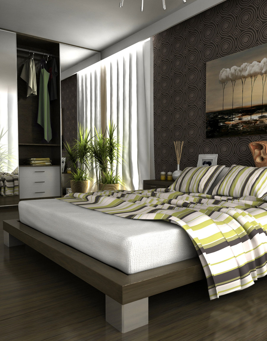 Gray-Walls-Bedroom-Decorating-Ideas
