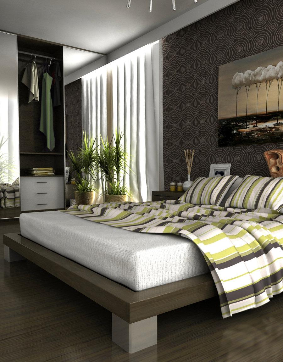Gray-Walls-Bedroom-Decorating-Ideas