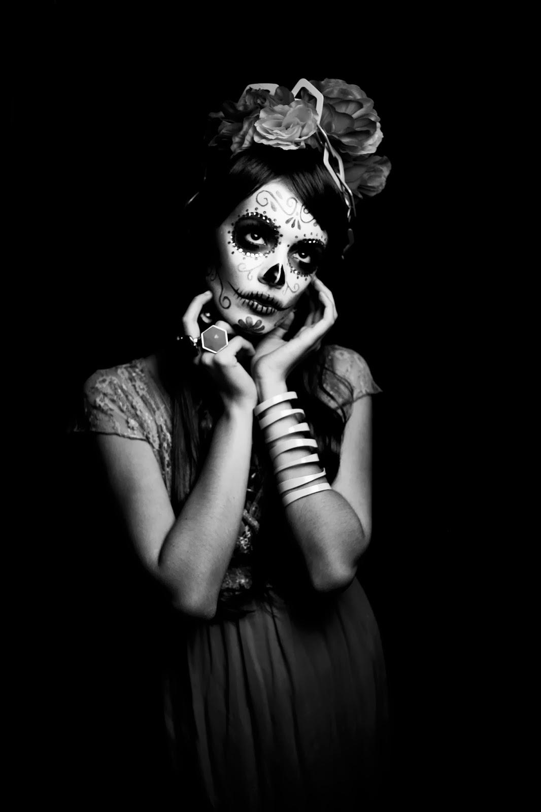 Lovely-Catrina-Halloween-Makeup