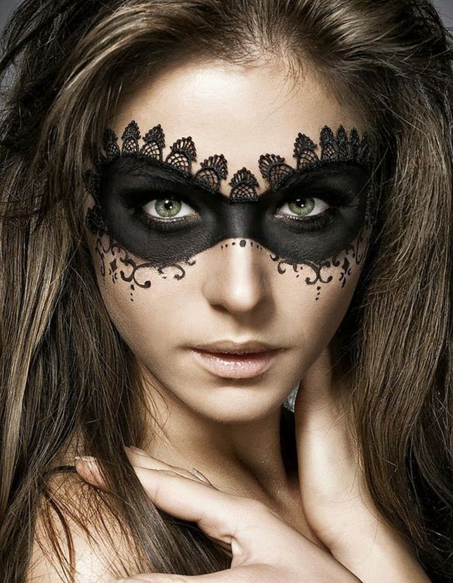 Masquerade-Mask-beautiful-and-creative-halloween-makeup-ideas