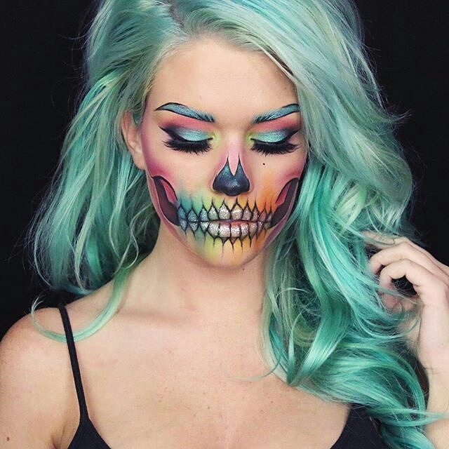 Scribble-Skull-Halloween-Makeup-Ideas