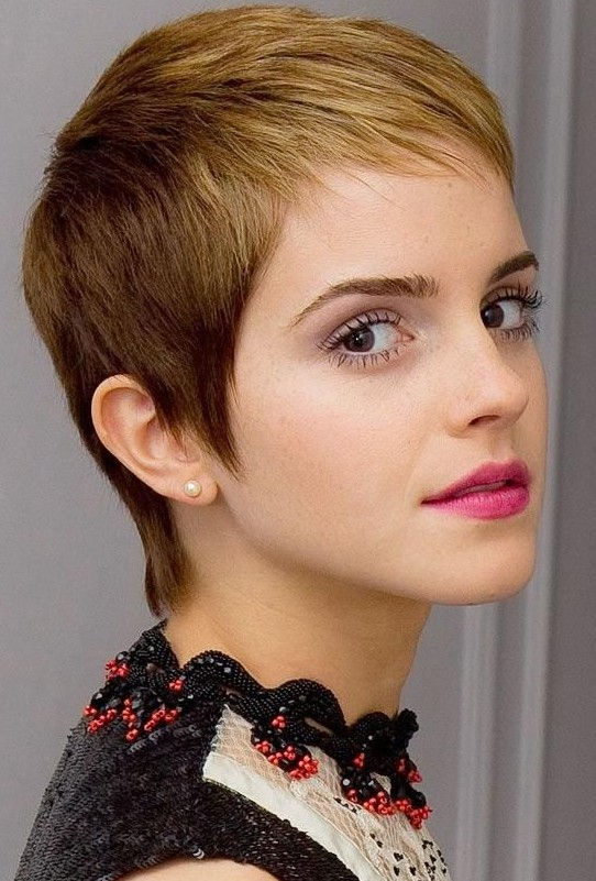 Very Short Hairstyles For Round Faces