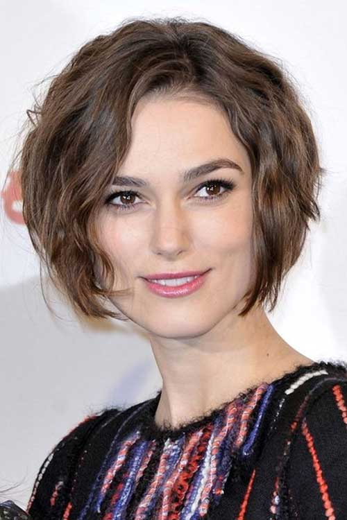Wavy Short Hairstyles For Thick Hair