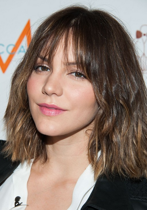 Wavy Short Hairstyles With Bangs