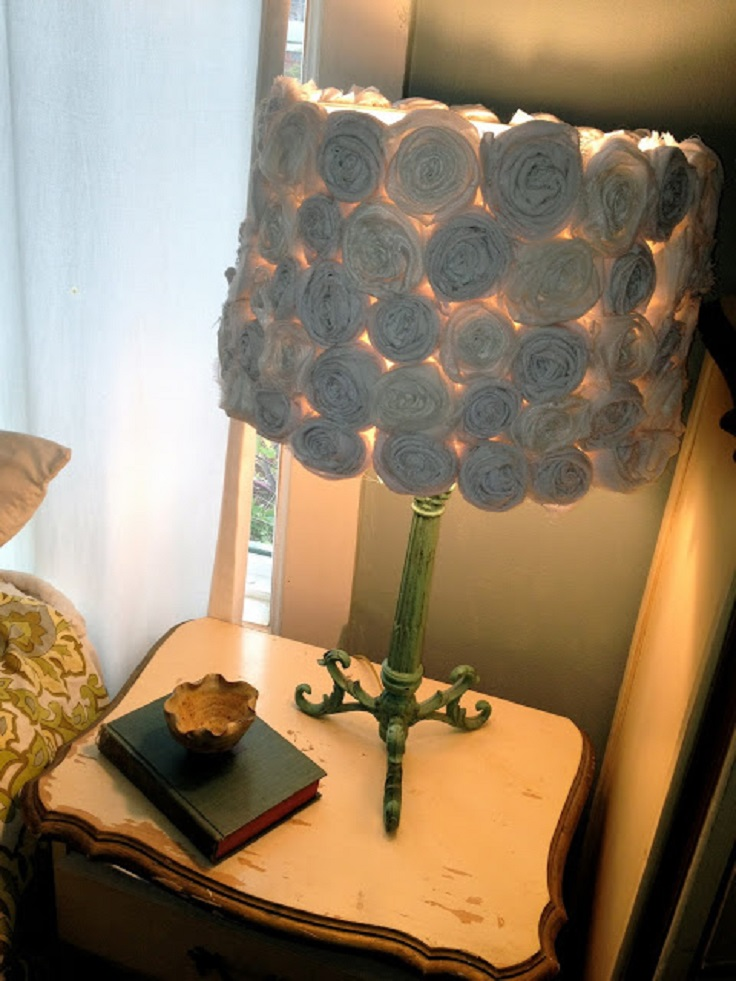 Fabric Rosy Lamp