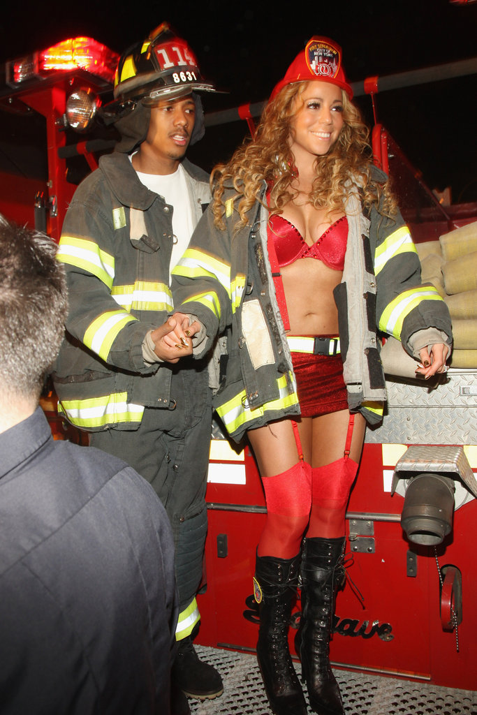 Mariah Carey and Nick Cannon as Firefighters