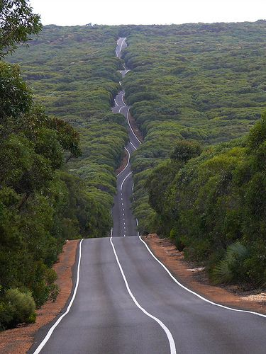 Road on Kangaroo Island, South Australia