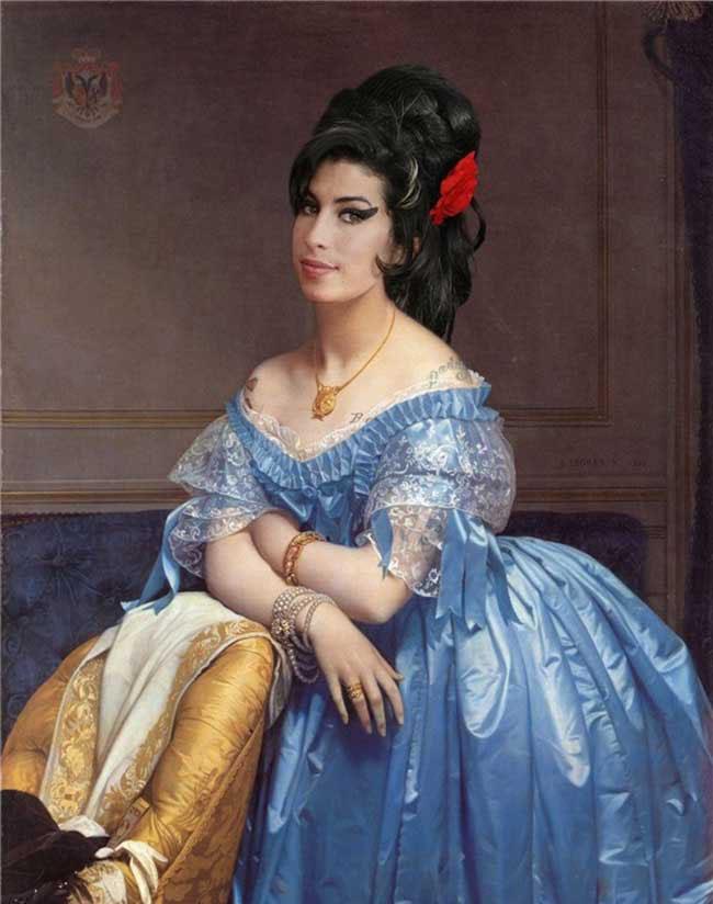 Classic Paintings Modern Celebrities