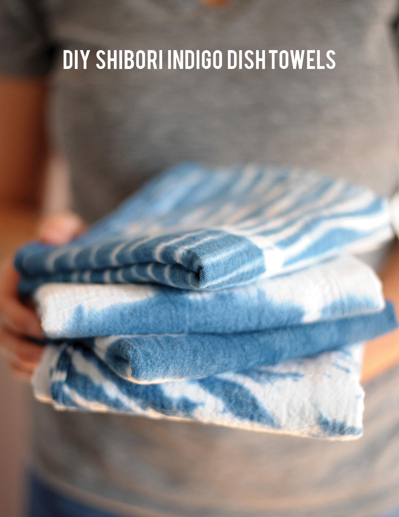 DIY Shibori Dish Towels.