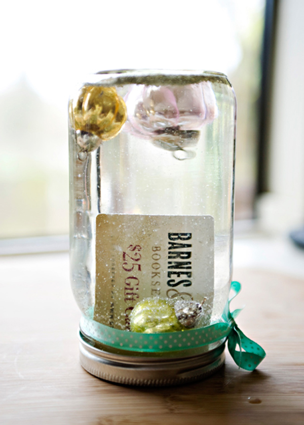 DIY Snow Globe Gift Card