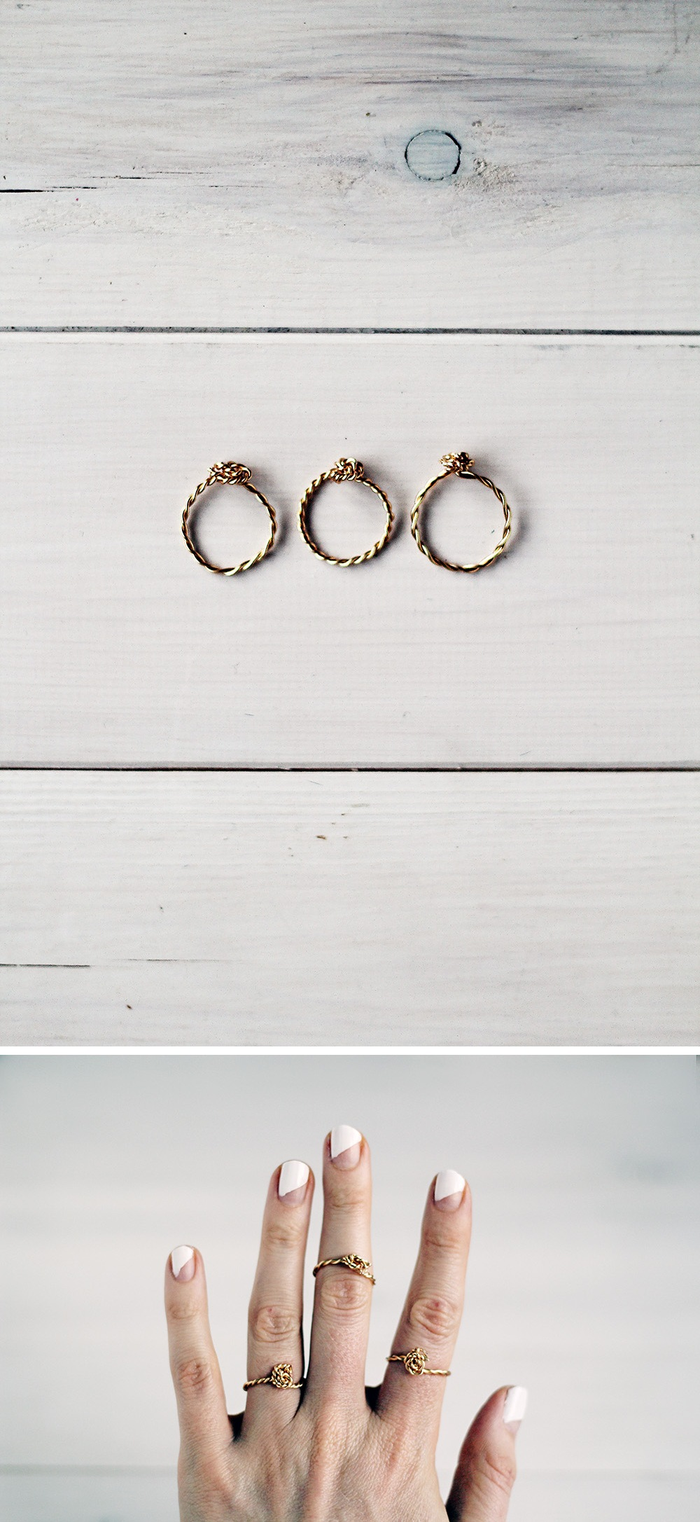DIY Twisted Wire Rings tutorials.
