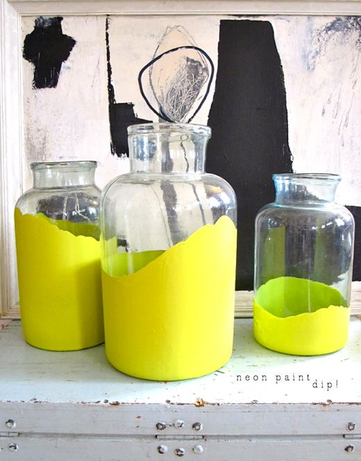 Dipped neon jars