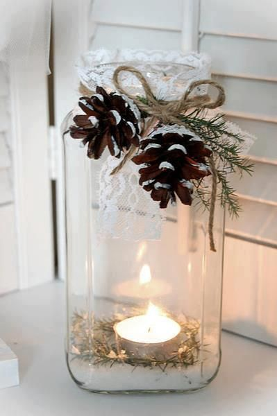 Jar-candle-and-pine-cones