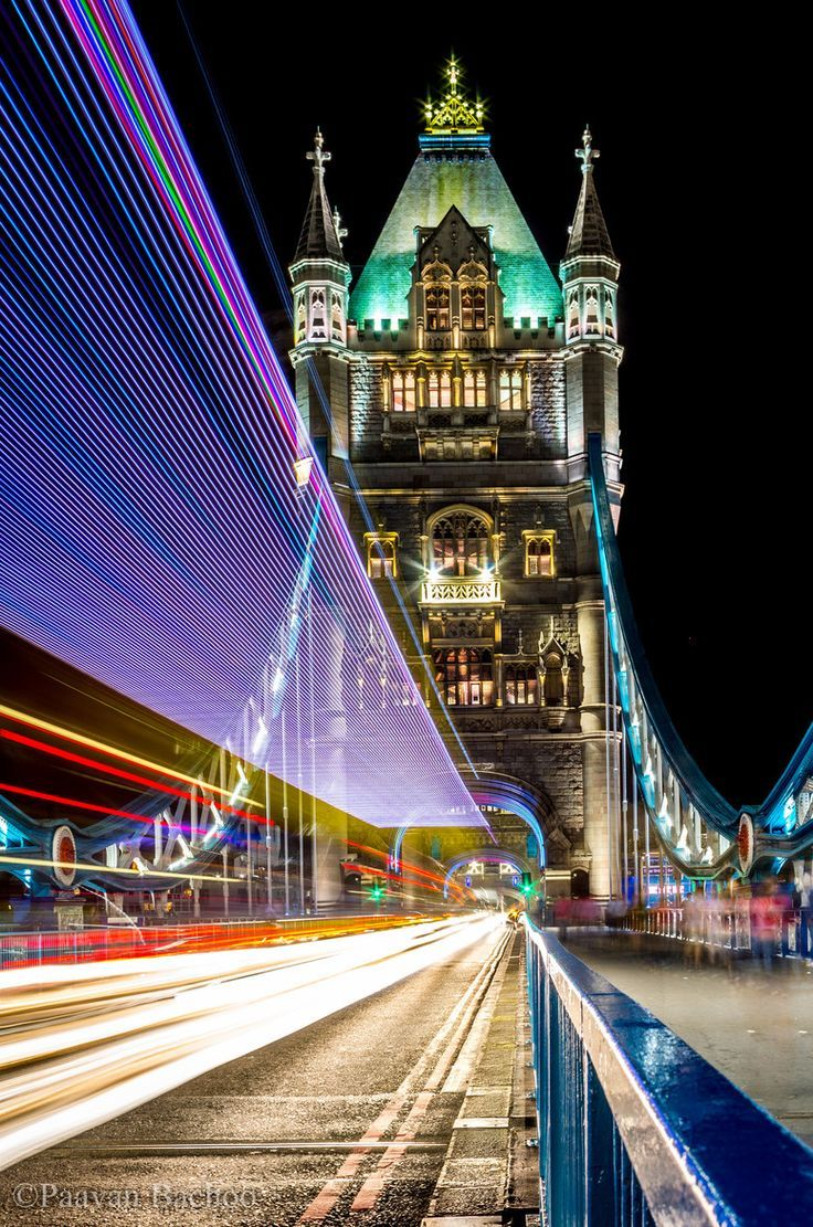 Tower Bridge with Trailing Lights