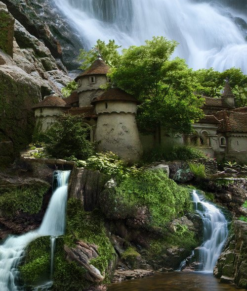 Waterfall Castle, Poland