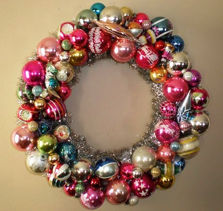 vintage shiny brite wreath