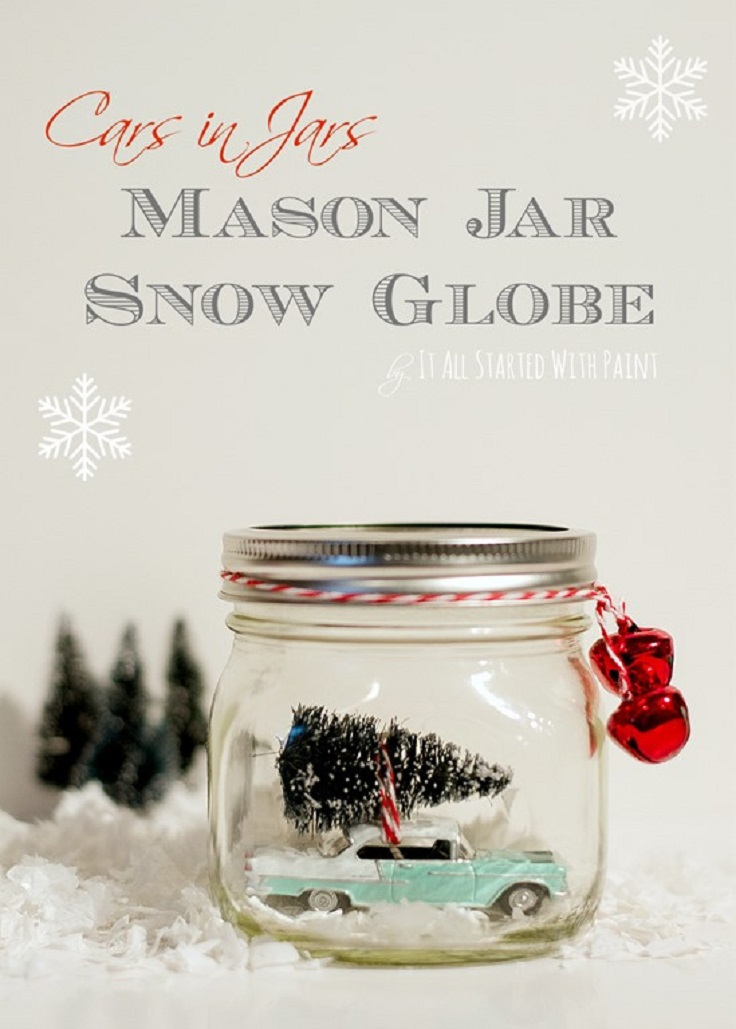Car in a Jar Snow Globe