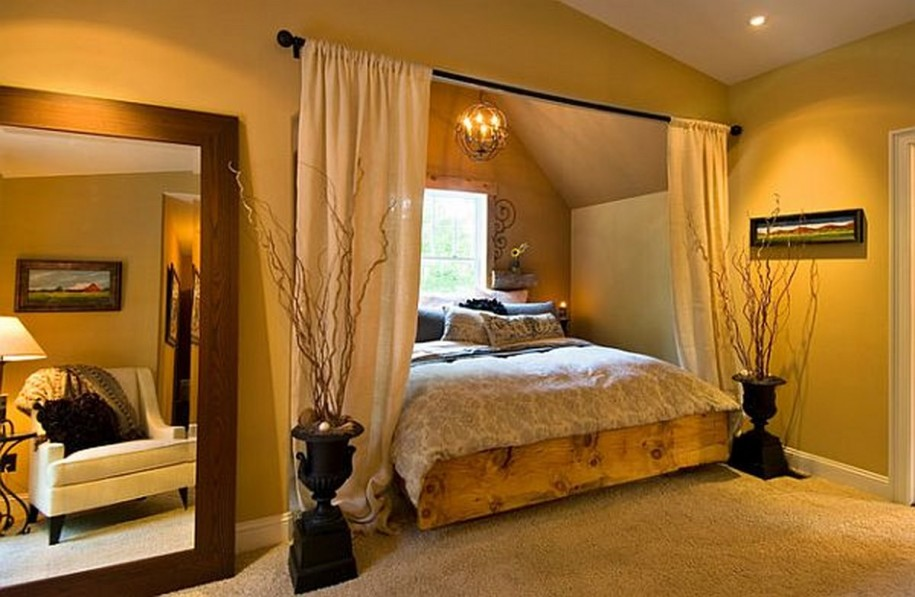 unique-master-bedroom-design-with-rustic-bed-frame-and-yellow-wall-paint-915x597