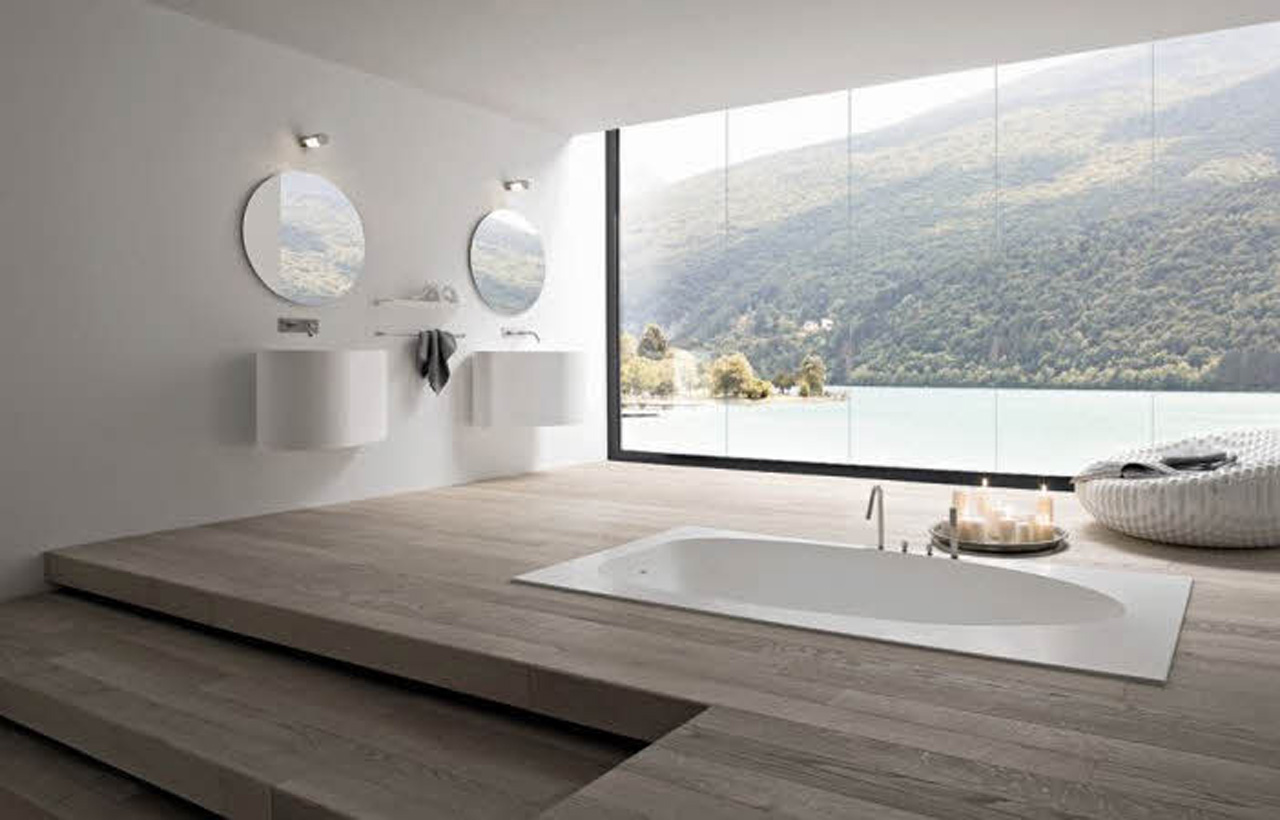 Modern-Bathroom-Design-With-Glass-Roof-176