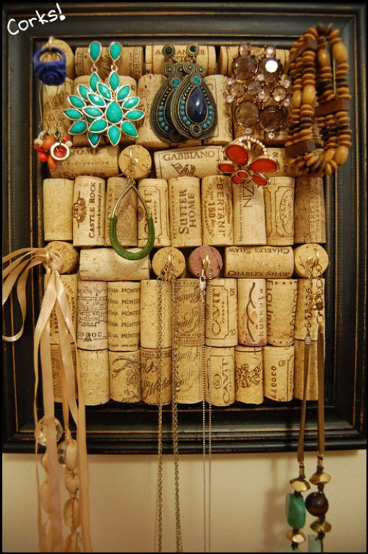 Cork Jewelry Organizer