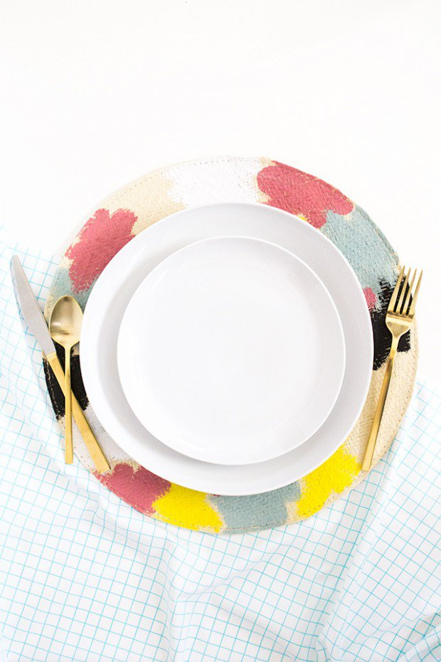 Painted Straw Placemats
