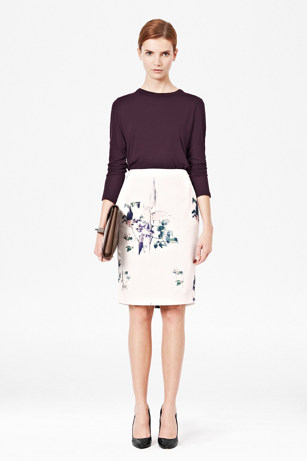Water-Flower-Pencil-Skirt