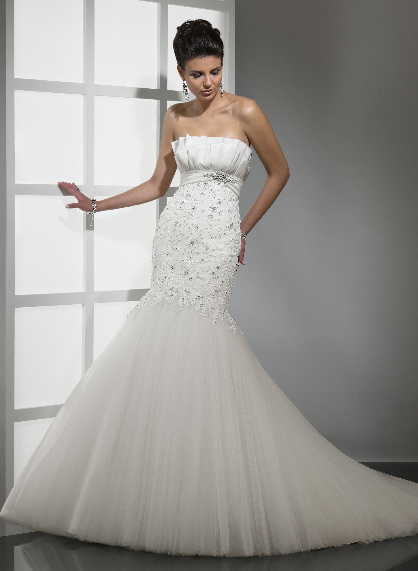 Mermaid Wedding Dress Strapless Lace Mermaid Wedding Dresses ...