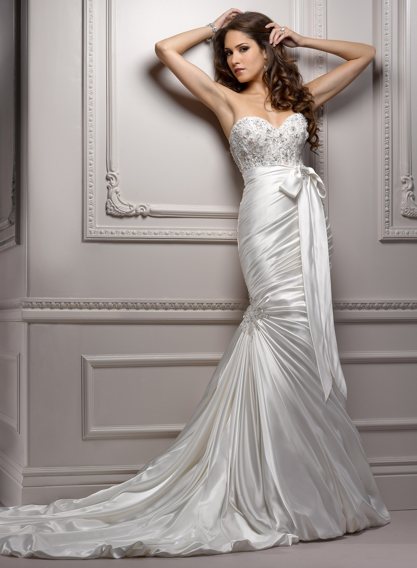 Satin Sweetheart Mermaid Wedding Dress