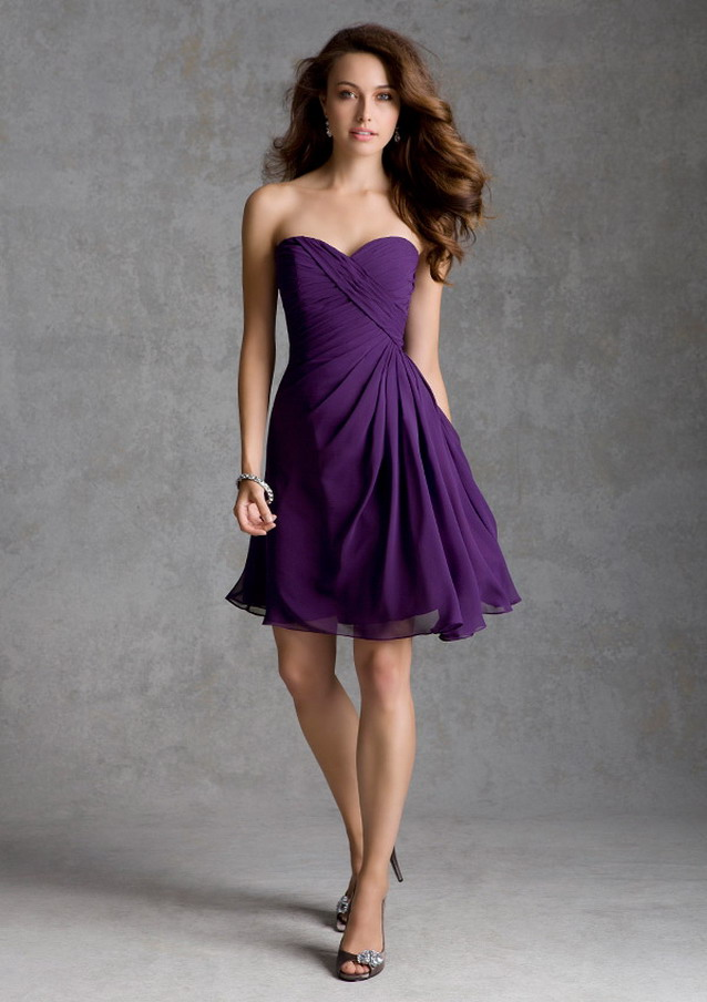 short-purple-bridesmaid-dress